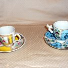"ESPRESSO OR  DEMITESE "" 2"" CUPS BLUE UNMARKED YELLOW AVON MADE GERMANY 1985"