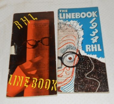 LINEBOOK COPYRIGHTED BY THE CHICAGO TRIBUNE 2 MAGAZINES 1933 & 1934  R.H.L.