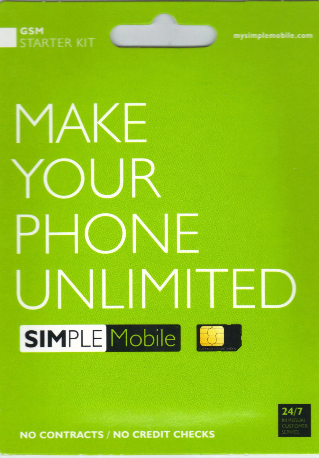 Prepaid Sim Card for unlocked iPhone 2, 3, 3g, and 3gs (Simple Mobile)