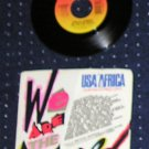Michael Jackson &quot;We Are The World&quot; 45 Record Single