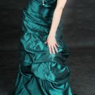 ❀Christmas Teal Bridesmaid Prom Gown Party Dresses❀