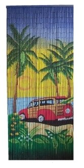 STPJLT-WDY Surfer's Woody Bamboo Curtain 135 Strands!