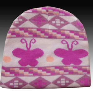 Classique Pink Girls Beanie Hat