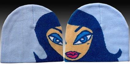 Classique Blue Girl Beanie Hat