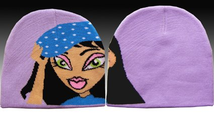 Classique Purple Girls Beanie Hat
