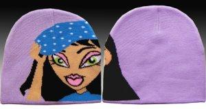 Classique Purple Girls Beanie Hat