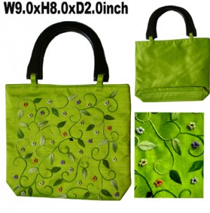 Classique Green Embroidered Bag