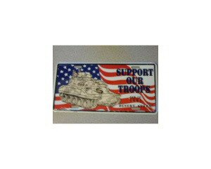 Support Our Troups Metal License Plate - NEW! $3 shipping