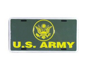 US Army Metal License Plate - NEW! $3 shipping
