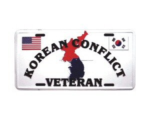 Korean War Veteran Metal License Plate - NEW! $3 shipping