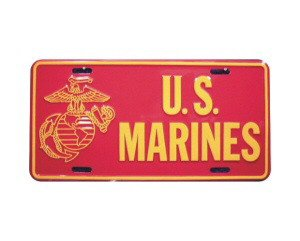 U.S. Marines Metal License Plate - NEW! $3 shipping