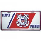 Semper Paratus Coast Guard Metal License Plate - NEW! $3 shipping