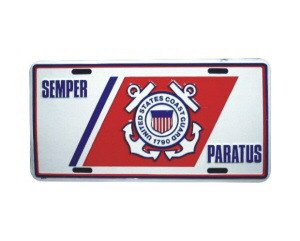 Semper Paratus Coast Guard Metal License Plate - NEW! $3 shipping