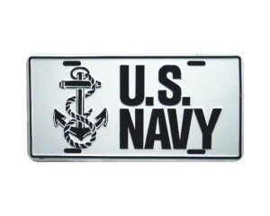 US Navy Metal License Plate - NEW! $3 shipping