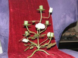 Green Rose Candleholder