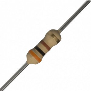 25 PCS 1/4W, 300 Ohm,  5% Carbon Film Resistors