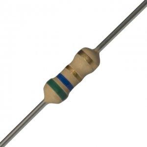 25 PCS 1/4W, 5.6 Ohm,  5% Carbon Film Resistors