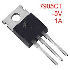 5 Negative 5V Liner Regulators, 7905, TO-220