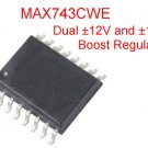 1 MAX743CWE Dual Boost ±15V / ±12V Regulator, SOIC-16W