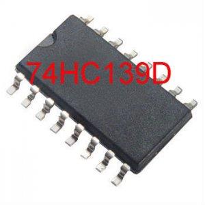 4PCS 74HC139D H-MOS DUAL 1 0F 4 DECODER SOIC-16