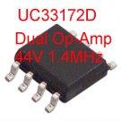 4PCS UC33172D Dual Op-Amp 44V 1.4Mhz SOIC-8