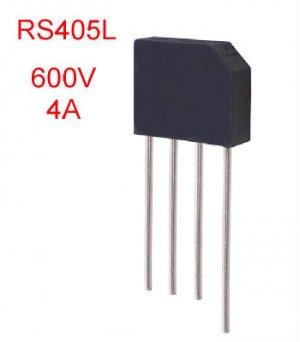 2PCS Bridge Recitfiers 4Amp 600V RS405L