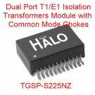 2PCS Dual Port T1/E1 Isolation Transformer with Chokes