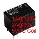 5PCS 5V Coil 2A@30V / 1A@120V Relays AZ5Y-1CH-5DE
