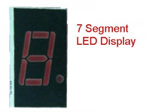 "10 PCS 0.4"" 7 Segment Numeric Display LED, Common Anode, Red"