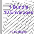 Bundle of 10 Avon Money Collection Envelopes