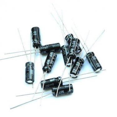 2PCS 0.33uF 50V Radial Electrolytic Capacitors