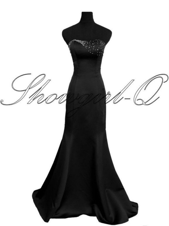 9005 BLACK EVENING DRESS PROM BALL GOWN  BRIDESMAID