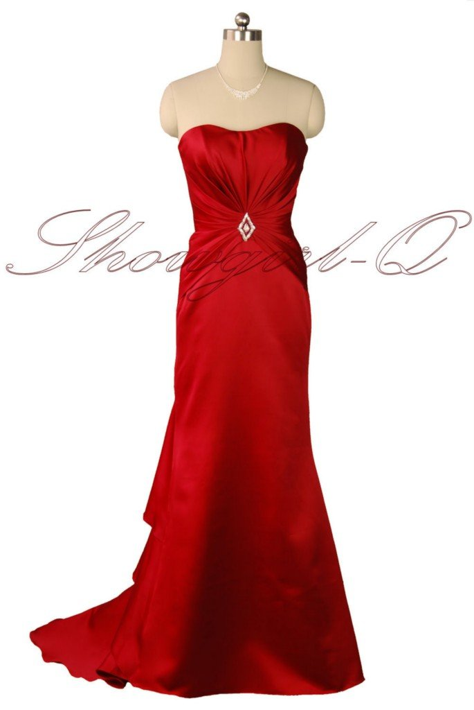 5376 RED Bridesmaid Evening Dress Prom Ball Gown Robe