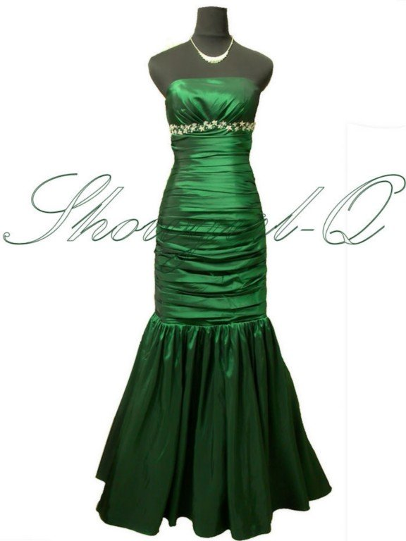 GREEN EVENING DRESS PROM DRESSES BALL GOWN