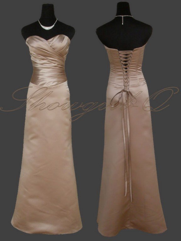 3816 EVENING DRESS PROM BALL GOWN BRIDESMAID CAPPUCCINO