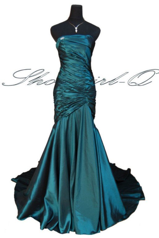 Plum or Teal Evening Dress Prom Ball Gown Bridal