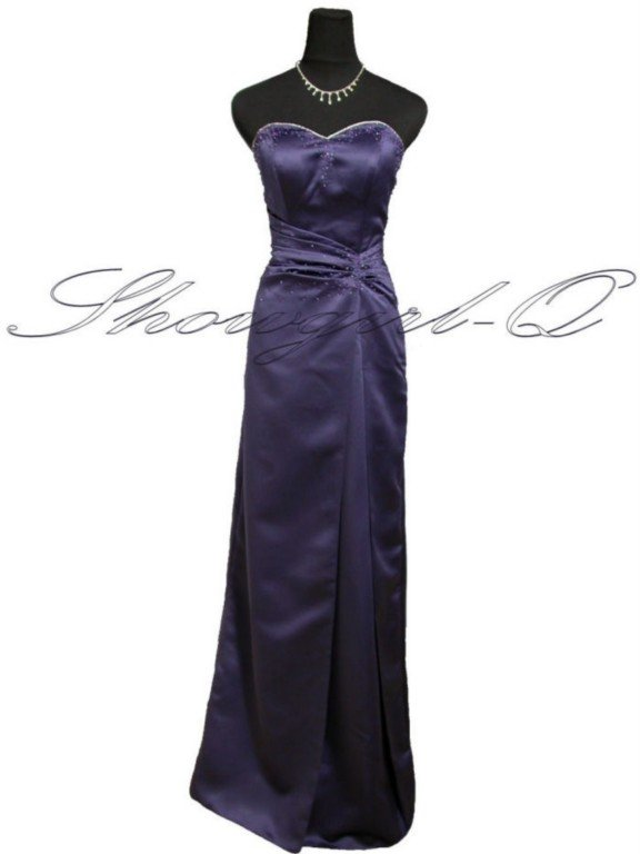 PURPLE EVENING DRESS PROM BALL GOWN SIZE 8 - 20 3686
