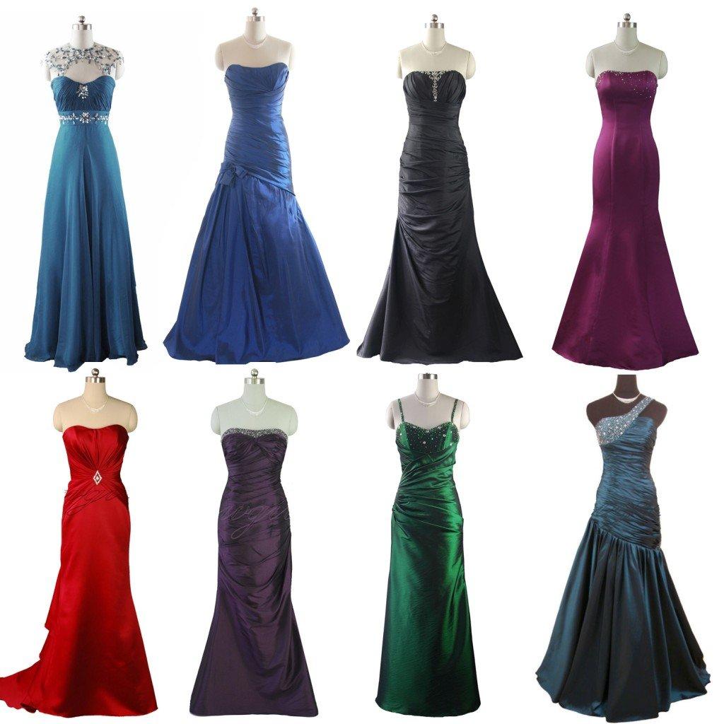 PURPLE GREEN RED BLUE  EVENING DRESS PROM DRESSES BALL GOWN BRIDESMAIDS DRESSES