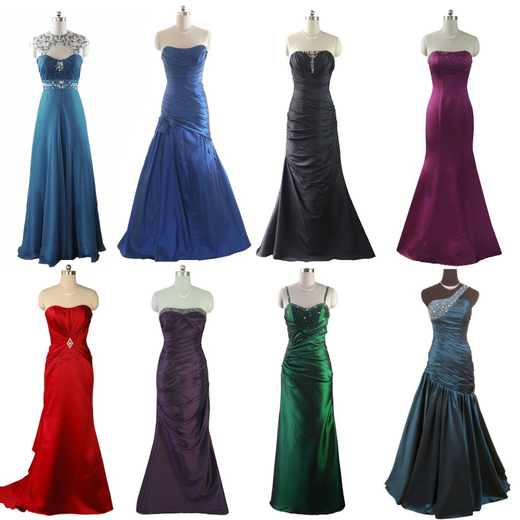 3272 RED BLACK GREEN EVENING DRESS PROM DRESSES BALL GOWN BRIDESMAIDS DRESSES