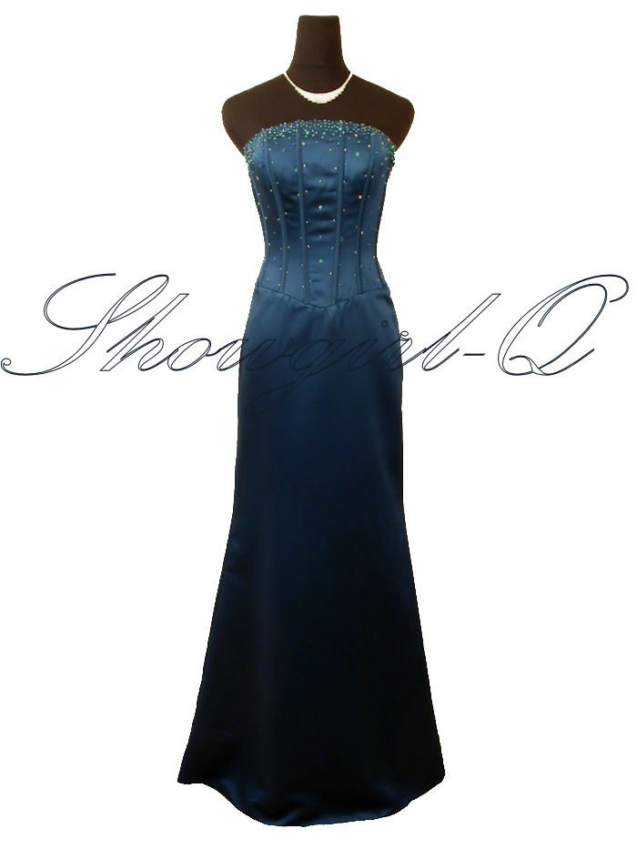 5474 TEAL EVENING DRESS PROM BALL GOWN BRIDESMAID