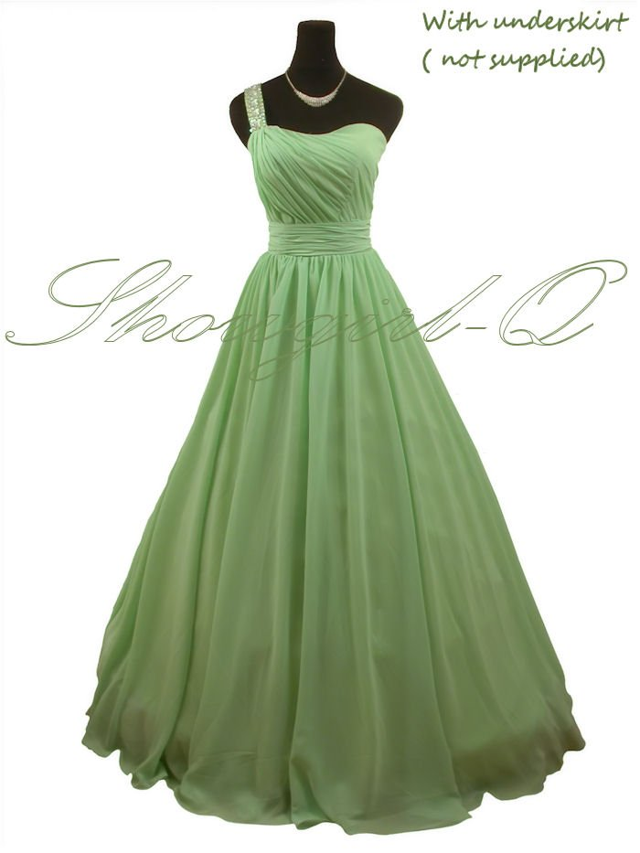5246 GREEN DRESS PROM BALL GOWN 8 10 12 14 16 18 20