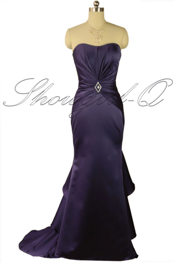 5376 PURPLE Bridesmaid Evening Dress Prom Ball Gown