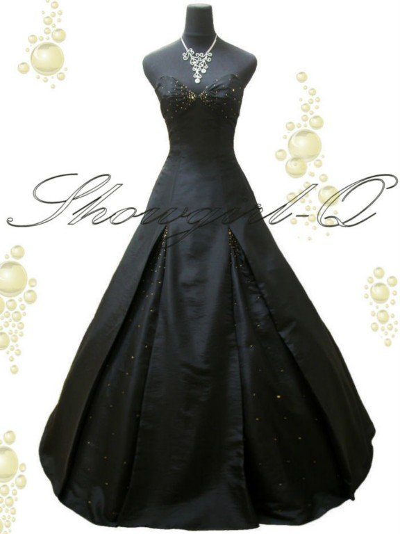 3568 BLACK Evening Dress Prom Ball Gown Bridesmaid