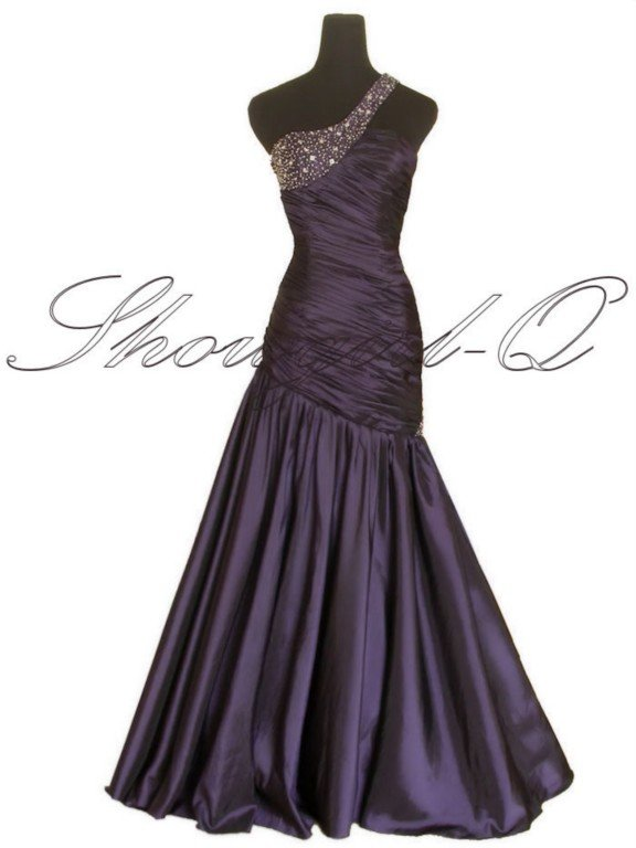 5251 PURPLE EVENING DRESS PROM BALL GOWN 8 10 12 14 16