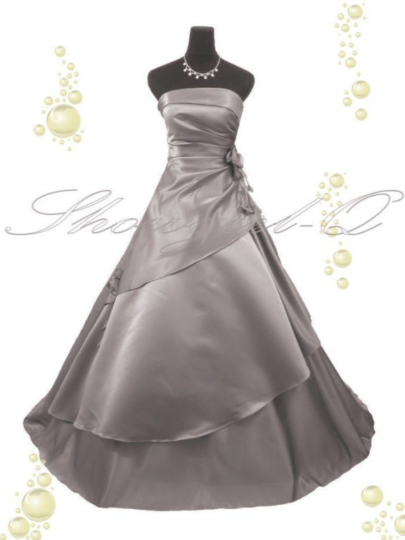 3369 SILVER EVENING DRESS PROM BALL GOWN  8 10 12 14
