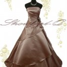 3369 CAPPUCCINO EVENING DRESS PROM BALL GOWN  8 14 16