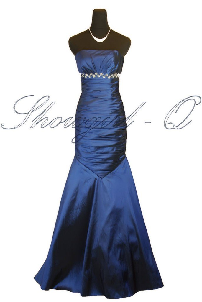 5403 BLUE EVENING DRESS PROM BALL GOWN 8 - 20 UK STOCK!