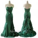 5376 Green Ruched Soft Sweetheart Freshers Ball Evening Prom Bridesmaid Dress
