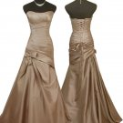 Cappuccino sweetheart neckline strapless evening prom pageant dress UK 8 -20