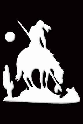 End of Trail Indian on Horse Decal Sticker